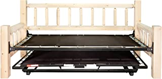 Montana Woodworks Homestead Collection Day Bed with Pop Up Trundle Bed, Ready to Finish