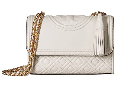 Tory Burch Fleming Small Convertible Shoulder Bag (Birch) Shoulder Handbags