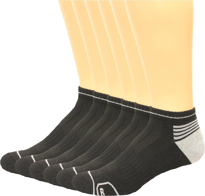 Lee Men's Low Cut Odor Control Socks 6 Pair, Black, Men's 6-12