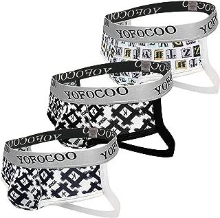 2QIMU Men's Jockstrap Underwear Thong Breathable G-String Athlete Supporter Jock Straps for Men