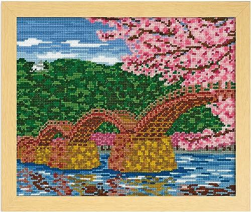 Orimupasu Kreuzstich-Stickerei-Kit Attraktionen Serie Sakura und Kintai off-Weiß 7459