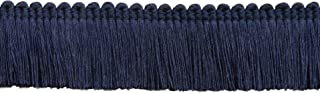 DÉCOPRO 5 Yard Value Pack of Navy, 1 1/4 inch Basic Trim Brush Fringe Style# 0150SB Color: Dark Navy Blue - J3 (4.5 M / 15 Ft)
