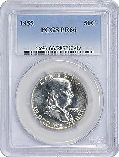 1955 P Franklin Half Dollar 50C PR66 PCGS