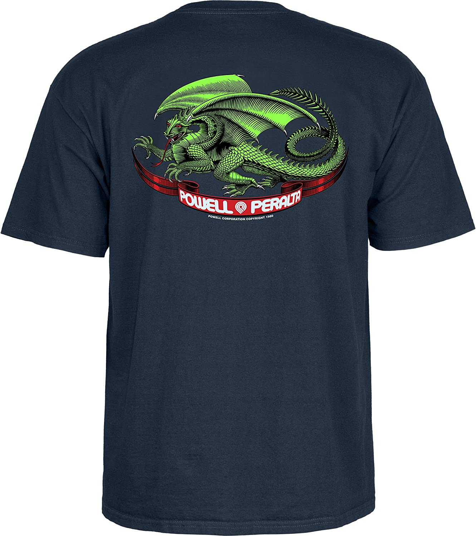 Navy Powell-Peralta Oval Dragon T-Shirt