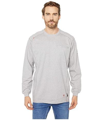 Ariat FR Air Crew T-Shirt (Silver Fox Heather) Men