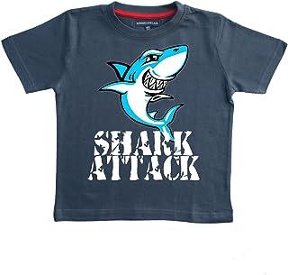 De ataque de tiburón - azul marino tamaño de la funda de palo de golf para niños T-de manga corta de mujer 2-3 años con un de color blanco, Sky azul y negro diseño de impresión. EDWARD SINCLAIR T-de manga corta de mujer