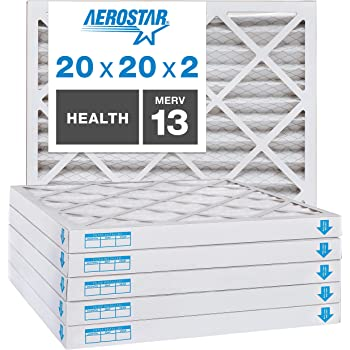 Nordic Pure 13x20x1 Exact MERV 13 Pleated AC Furnace Air Filters 2 Pack