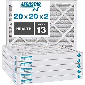 25 x 25 x 2 25 x 25 x 2 Midwest Supply Inc 6-Pack US Home Filter SC40-25X25X2 25X25X2 Merv 8 Pleated Air Filter