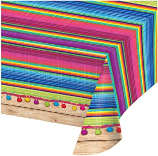 """Creative Converting 324357 All Over Print Plastic Tablecover, 54 x 102-Inch, Serape"""", Table Cover"""
