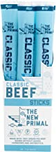 The New Primal Classic Beef Meat Stick, Paleo, Gluten & Soy Free, 100% Grass-Fed, Keto, No Added Sugar, 1oz, 20 Count