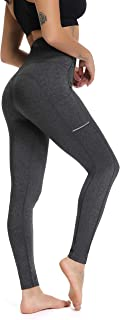 Olacia Yoga Pants for Women with Pockets, High Waisted Yoga Pants Tummy Control Workout Leggings