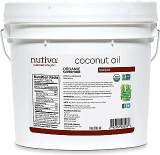 Nutiva Organic, Unrefined, Virgin Coconut Oil, 128 Fl Oz (Pack of 1)