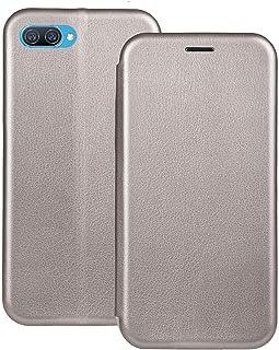 ل Oppo A1K / Realme C2 Filp Leather Magnetic مع غطاء فتحة بطاقة - فضي