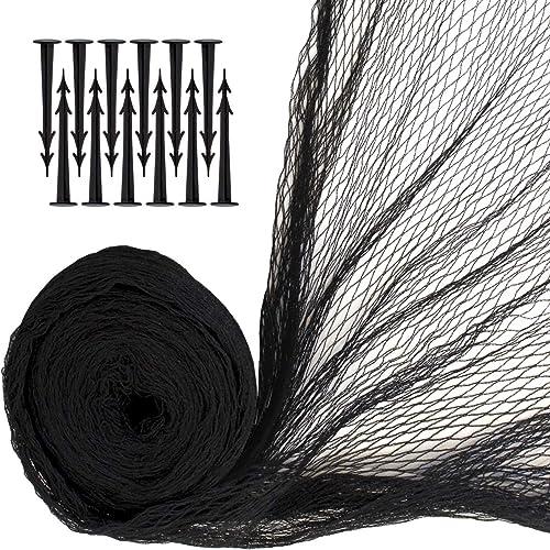 iGadgitz Home U7086 Filet Bassin avec Piquets de Sécurité - Noir - 4 x 5.5m(22m²) 12 piquets