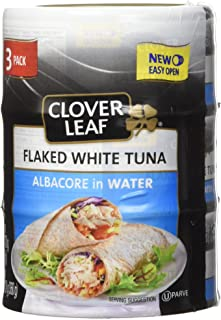 Clover Leaf Flake White Albacore in Water, 170g, 3 Count