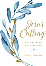 Jesus Calling, Enjoying Peace in His Presence, large text cloth botanical, with full Scriptures