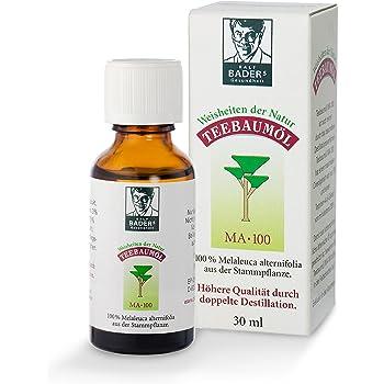 BADERs Teebaumöl. Der Klassiker aus der Apotheke. Doppelt destilliert. Desinfizierend. 100% Australisches Melaleuca alternifolia. 30ml