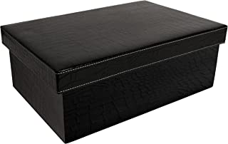 Wald Imports Black Paperboard Decorative Storage Boxes