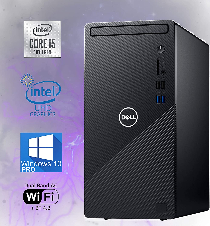 Dell Inspiron 3880 Desktop Computer, 10th Gen Intel Core i5-10400 Upto 4.30 GHz, 8GB RAM, 512GB M.2 NVMe SSD + 1TB HDD, AC Wi-Fi, Bluetooth, HDMI, VGA, DVD-RW, SD-Card - Windows 10 Pro(Renewed)