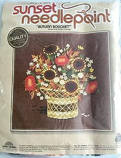 """""""Autumn Bouquet"""" Sunset Designs Needlepoint #6231 Kit 20"""" X 20"""""""