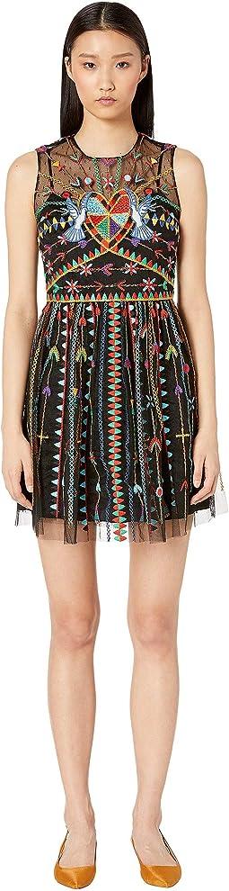 Abito Tulle + Ricamo Dress