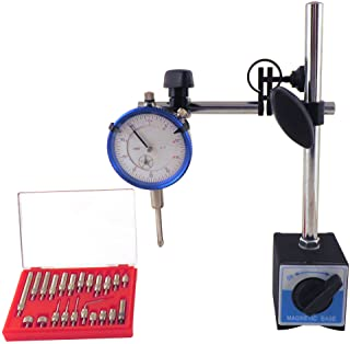 Magnetic Base with Fine Adjustment & SAE Dial Test Indicator & 22 Piece Anvile..