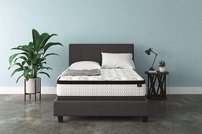 Ashley Furniture Signature Design 12 Inch Chime Express Hybrid Innerspring Firm Mattress Bed In A Box Queen White