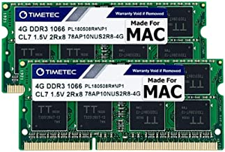 Timetec Hynix IC 8GB KIT(2x4GB) Compatible for Apple DDR3 1067MHz / 1066MHz PC3-8500 for MacBook, MacBook Pro, iMac, Mac M...