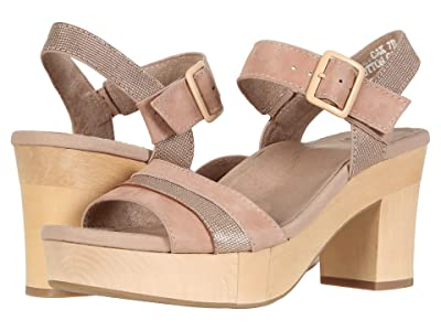 Earth Chestnut (Cotton Candy/Rose Gold Silky Suede PU) High Heels