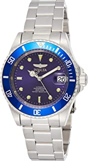 Men's 9094OB Pro Diver Collection Stainless Steel Watch with Link Bracelet, Silver/Blue