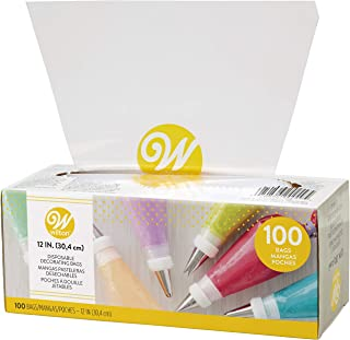 Wilton 12-Inch Disposable Cake Decorating and Pastry Bags, 100-Count