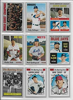 2019 Topps Heritage MLB Baseball Complete Mint Basic 400 Card Hand Collated Set Based Upon the Classic 1970 Topps Design