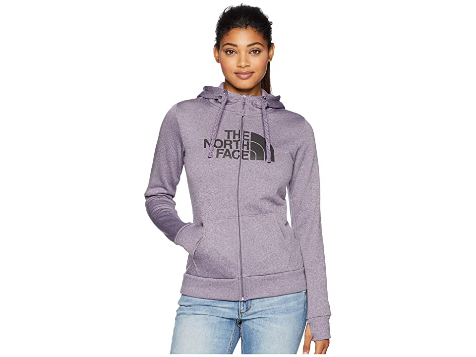 The North Face Fave 1/2 Dome Full Zip 2.0 (Purple Sage Heather/Asphalt Grey) Women