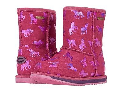 EMU Australia Kids Rainbow Unicorn Brumby (Toddler/Little Kid/Big Kid) (Deep Pink) Girl