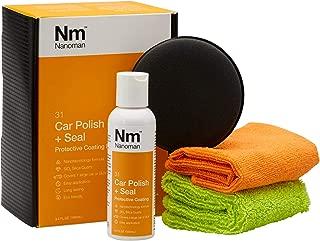 Nano Ceramic Coating for Cars. 3.4 Fl oz Ceramic Wax SiO2 Car Polish Kit. Super High-Gloss 9h 3D Diamond Hardness Nano Spray and Polish 100% UV Protection.
