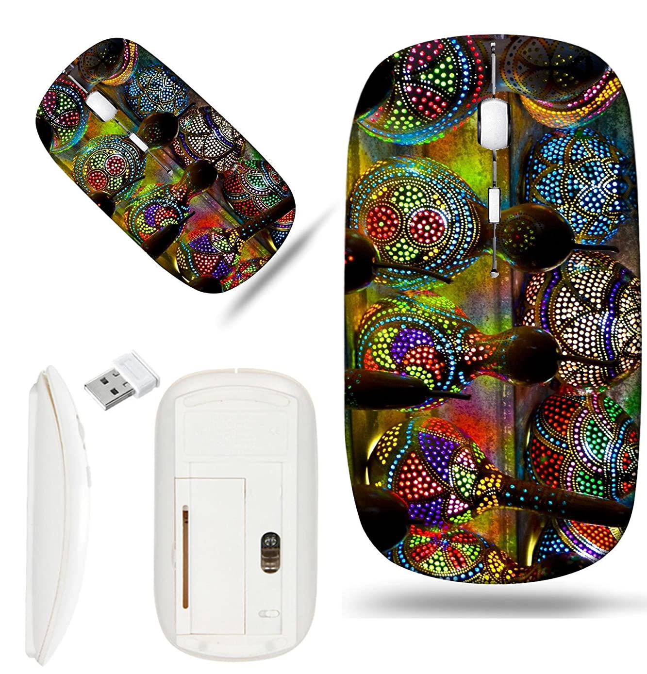 Luxlady Wireless Mouse White Base Travel 2.4G Wireless Mice with USB Receiver, 1000 DPI for notebook, pc, laptop, macdesign IMAGE ID: 22182795 Turkish Lamps at the Market in Istanbul Turkey