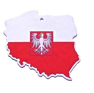 Duftbaum Lufterfrischer Flagge Polen für das Auto im 3er Set in verschiedenen Gerüchen Duft
