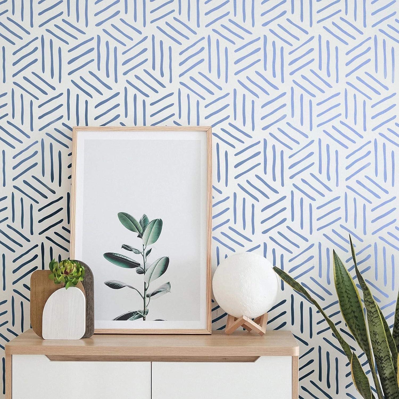 Reusable Wall Stencil- Wall Stencils Large Seamless Triangle Pattern Stencil Modern Geometric Wall Stencil Wall Decor Stencil