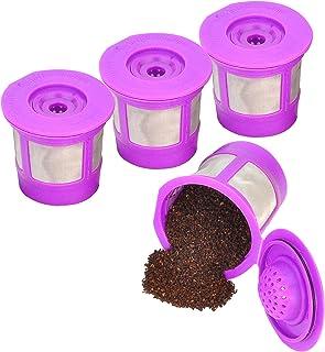 Reusable K Cups for Keurig 2.0 & 1.0 4PACK Coffee Makers. Universal Refillable KCups, Keurig filter, Reusable kcup, k cup ...