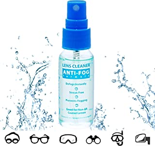 Anti Fog Spray Eyeglass Lens Cleaner, Long Lasting Defogger for Glasses, Goggles, Ski..