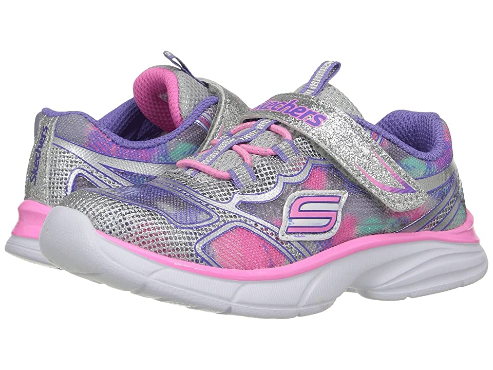 SKECHERS KIDS Spirit Sprintz (Toddler) (Silver/Multi) Boy