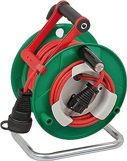 Brennenstuhl Garant G Bretec IP44 Gartenkabeltrommel Kabeltrommel für Rasenmäher mit 232m Kabel in rot, Spezialkunststoff, kurzfristiger Einsatz im Außenbereich, Made in Germany