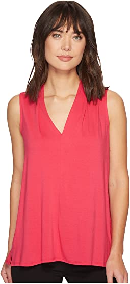 Vince Camuto Sleeveless V-Neck Top w/ Center Front Seam