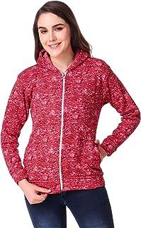 Kiba Retail Winter Wear Casual Full Sleeves Woollen Jacket for Women's/Girl's Pack of 1(Color- Maroon, Size- S, M, L, XL)