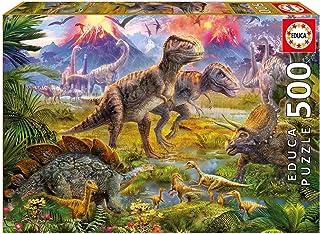 Educa Unisex Dinosaur Gathering Puzzle (500 Piece)
