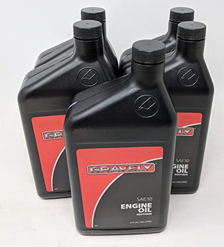 popular Gravely lowest 5-Pack 00073600 SAE 30 4-Cycle Engine Oil outlet online sale Quart sale