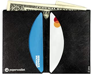 Paperwallet - Minimalist Micro Ultra Thin Bifold Front Pocket Wallet RFID Blocking
