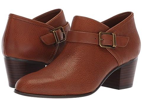 CLARKS Maypearl Milla, Dark Tan Tumbled Leather