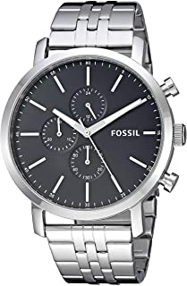 Fossil Men's Luther Stainless Steel Chronograph Quartz Watch