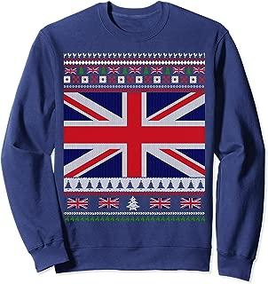 UK Flag Ugly Christmas Sweater Sweatshirt Jumper